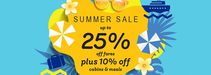 Summer Sale! Up to 25% OFF England-Holland ferries